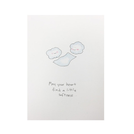 heart find softness encouragement card