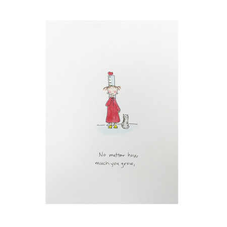 no matter how much you grow love card for daughter