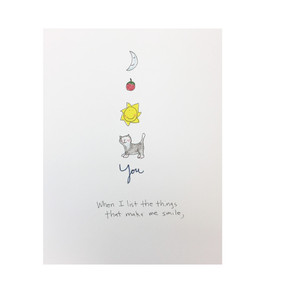 make me smile friendship, love, anniversary card