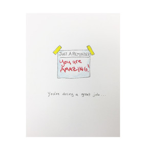 you are doing a great job thank you and encouragement card