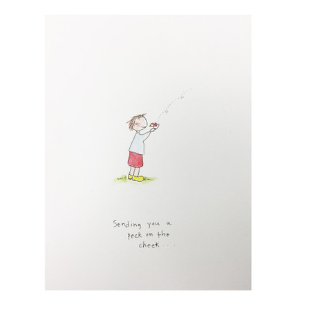 sending you a peck encouragement card
