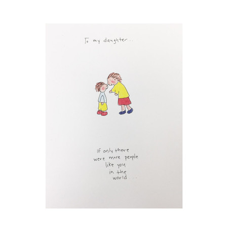 to my daughter love card