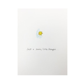a sunny little thought get well card