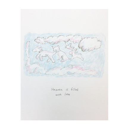 heaven is filled with love pet sympathy card