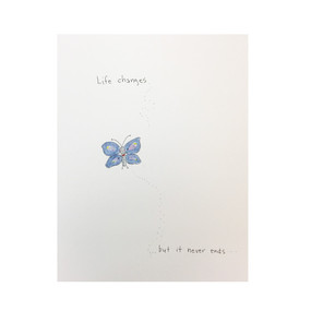 life changes sympathy card