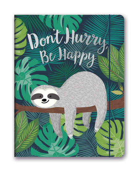 don't hurry, be happy 2020 monthly planner, front cover