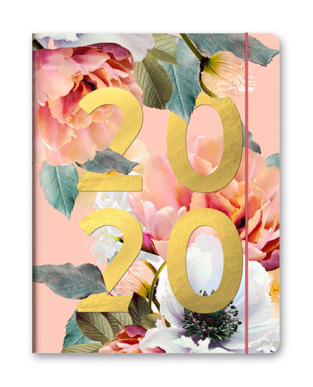 floral expressions 2020 monthly planner, front cover