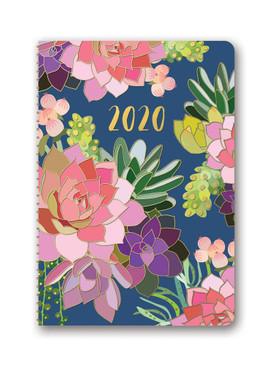 succulent paradise 2020 on-time weekly planner, front cover