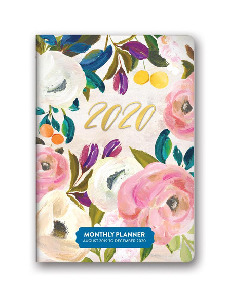 bella flora 2020 monthly pocket planner, front cover
