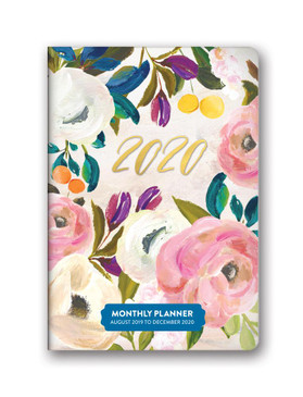 bella flora 2020 monthly pocket planner, front cover