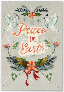 wings of peace small boxed holiday cards, front
