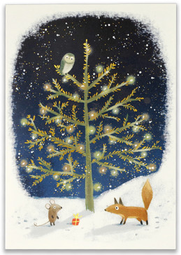 winter tails small boxed holiday cards, front