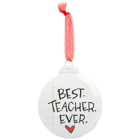 best teacher ever personalizable ornament