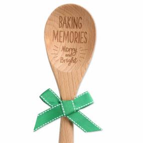 baking memories christmas sentiment spoon