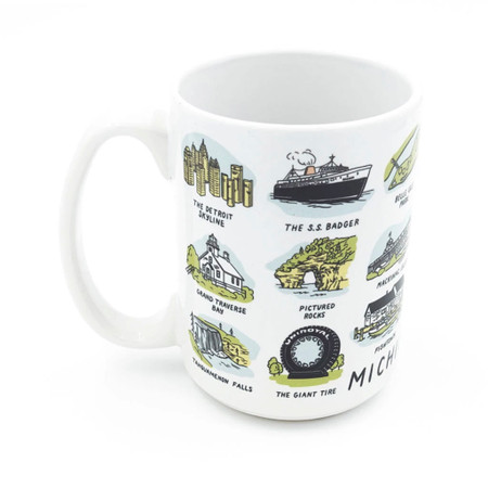 michigan sights mug, iconic sights