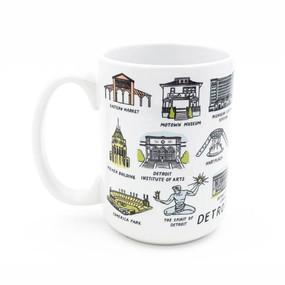 detroit landmarks mug