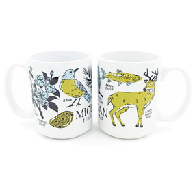 michigan state symbols mug