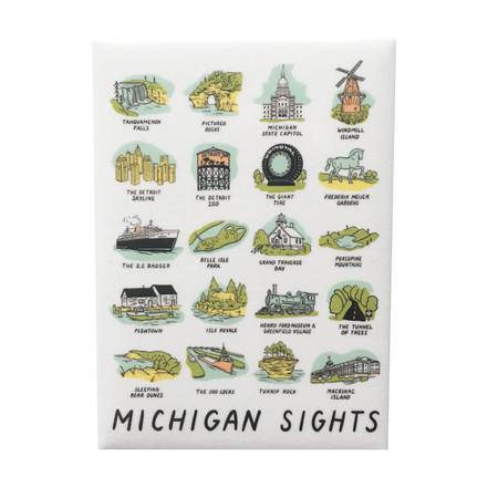 michigan sights magnet, iconic sites