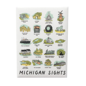 michigan sights magnet, iconic sites