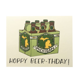 have a hoppy birthday michigan beer birthday card