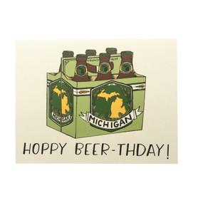 have a hoppy birthday michigan beer birthday card