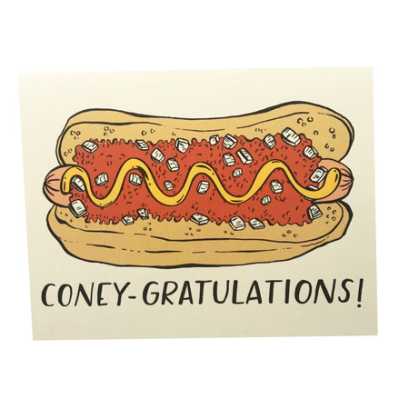 coney gratulations congratulations card, coney island