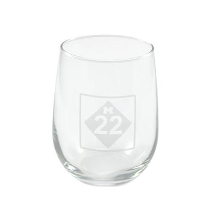 M22 stemless wine glass
