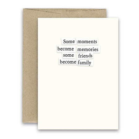 some friends become family friendship card
