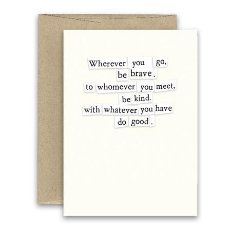 do good inspirational card