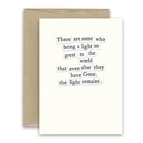 light remains sympathy card