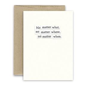 no matter what encouragement, love card