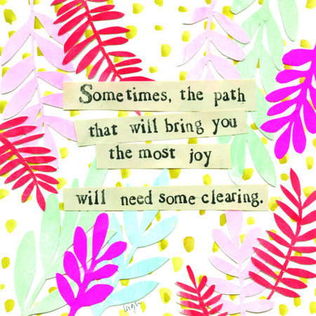 needs clearing inspirational card