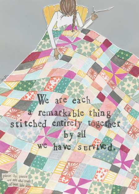 stitched together love card