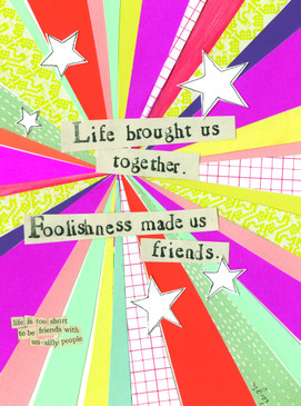 life brought us together friendship card