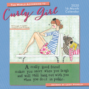 a really good friend wall calendar 2020, front cover