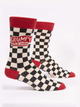 grumpy old man mens crew socks