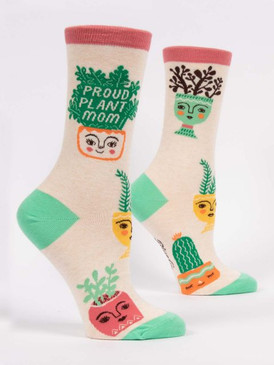 proud plant mom womens crew socks