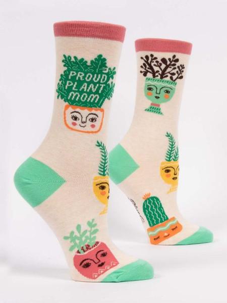 proud plant mom womens crew socks