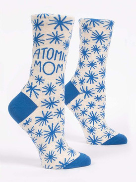 atomic mom womens crew socks
