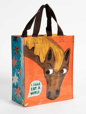 I could eat a horse handy tote, front, back