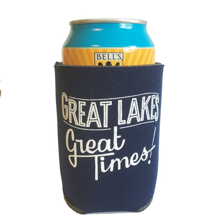 great lakes great times beer koozie