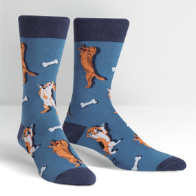 raise the woof dog mens crew socks