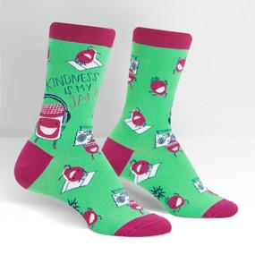 kindness is my jam womens crew socks