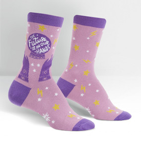 the future is in our hands womens crew socks