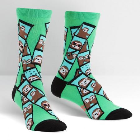 oh snap! sloth womens crew socks