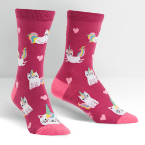 look at me meow womens crew socks