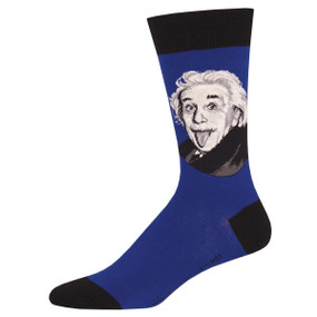 einstein portrait mens socks