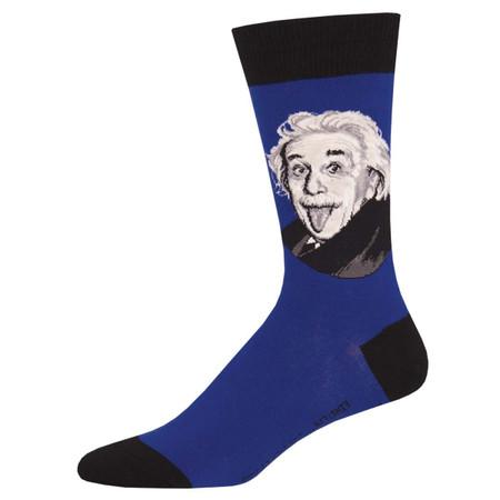 einstein portrait mens socks