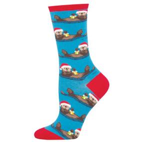 otterly merry womens socks