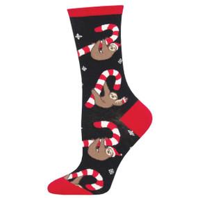 merry slothmas womens socks